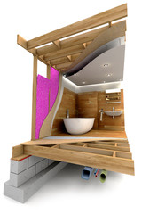 Bathroom building details