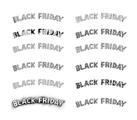 Black Friday Banner or Label for Start Shopping Season in Christmas Celebration.