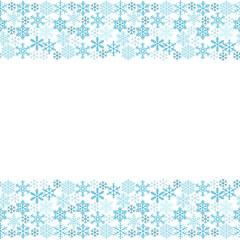 Narrow seamless pattern of snowflakes. Vector eps-10