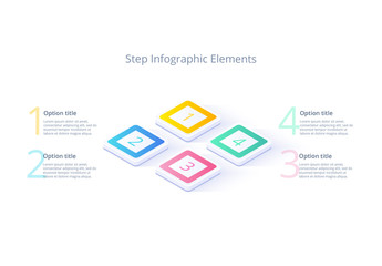 Four Step Infographic Layout