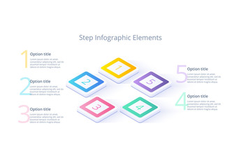Five Step Infographic Layout
