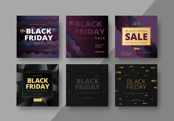 Square Black Friday Social Media Post Layouts