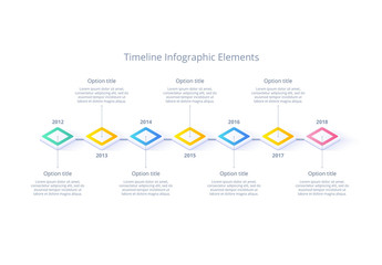 Multicolored Timeline Infographic