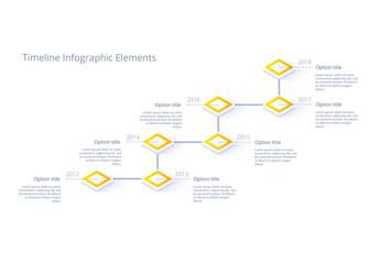 Yellow Timeline Infographic