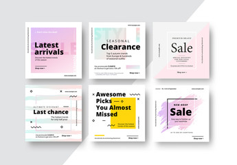 Square Sale Social Media Post Layouts