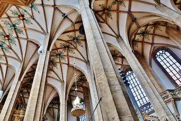 Gewölbe, Dom St. Marien, Freiberg, Sachsen Fototapete