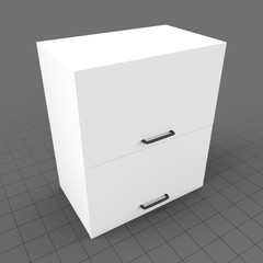 Kitchen wall cabinet double drawer