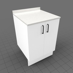 Kitchen base cabinet double door