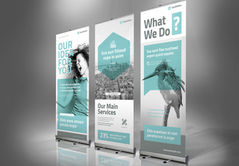 Roll-Up Banner Layout