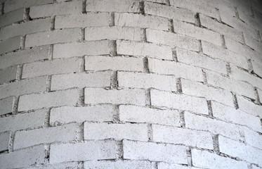 Mur de briques blanches circulaire