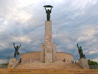 The Liberty Statue in Budapest, Hungary - Citadella
