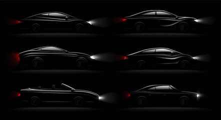 Lightened Cars Darkness Realistic Set