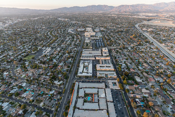 Aerial view towards Woodman Ave and Panorama City in the San Fernando Valley region of Los Angeles, California. Fototapete