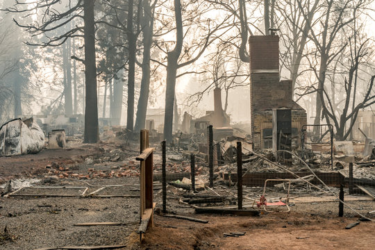 Destruction in Paradise, California Wildfire