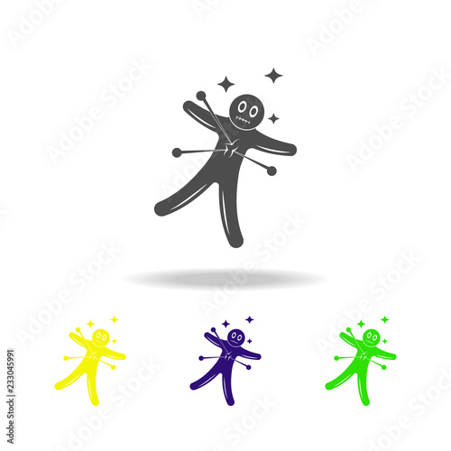 Voodoo Doll multicolored icon  Element of popular magic icon
