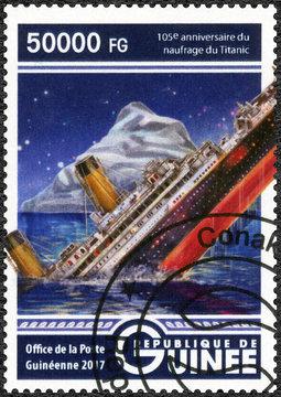 GUINEA - 2017: shows Titanic