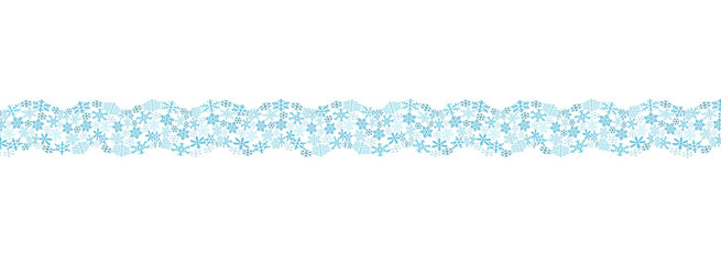 Ornament of snowflakes in the form of a wave