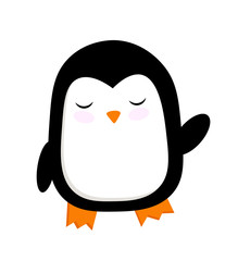 vector cute illustration of a penguin . cartoon picture