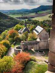 Burg Lichtenberg bei Kusel in Rheinland-Pfalz – märchenhafte Ansichten – farbintensiv - HDR