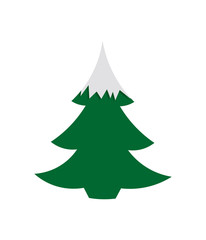 vector tree silhouette isolated On white background. Christmas tree icon.