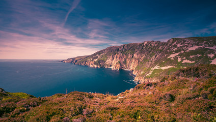 Slieve League cliffs (Sliabh Liag Cliffs) are among the highest sea cliffs in Europe. situated on the south west coast of County Donegal, Ireland