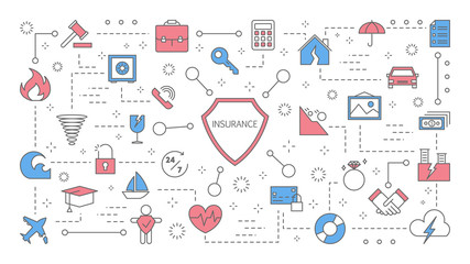Insurance concept. Health, life and finance protection.