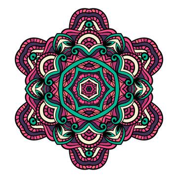 Oriental mandala vector.