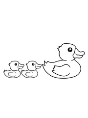 kinder mama 2 freunde geschwister eltern liebe familie quietscheente gummiente badeente ente gans vogel baby kind klein süß niedlich comic cartoon clipart design