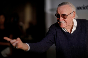 "Marvel Comics co-creator Lee poses at a tribute event ""Extraordinary: Stan Lee"" at the Saban Theatre in Beverly Hills"