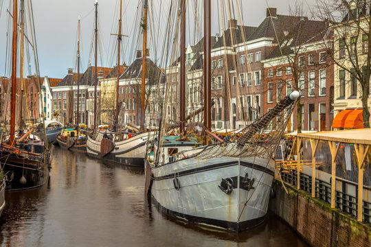 Historic sailing ships winterwelvaart Groningen