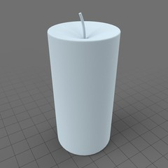 Stylized pillar candle