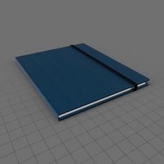 Notebook with elastic strap