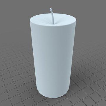 Stylized pillar candle