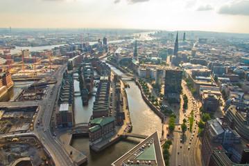 Hamburg von Oben, Speicherstadt