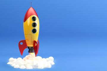Rocket launch illustration