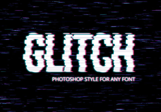 Glitch Text Effect Style