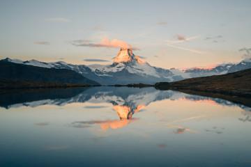 Matterhorn mountain reflection sunrise