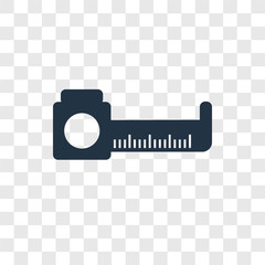 Measure vector icon isolated on transparent background, Measure transparency logo design