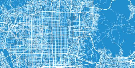 Urban vector city map of Kyoto, Japan Wall mural