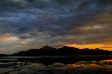 Mountains of Mourne silhouette