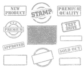 Big set of rubber stamps. Vector illustration