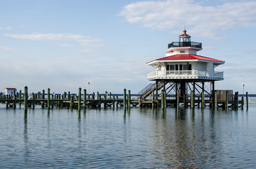Choptank River Lighthouse in Cambridge Maryland, on Maryland's Eastern Shore also known as Delmarva. Wall mural