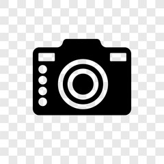 Camera vector icon isolated on transparent background, Camera transparency logo design