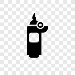 Lighter vector icon isolated on transparent background, Lighter transparency logo design