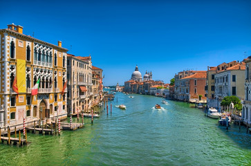 Keuken foto achterwand Venetie Gorgeous view of the Grand Canal and Basilica Santa Maria della