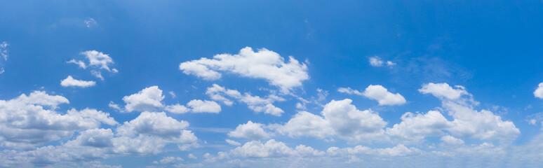 Sky background, Soft cloud in the blue sky on a sunny day.