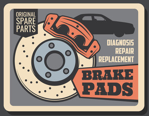 Brake pads, rims and car service