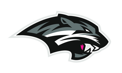 Logo of black wildcat or panther for a sport team
