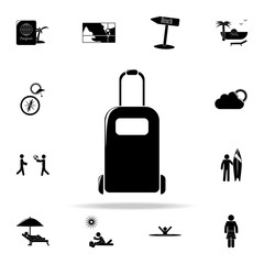 suitcase on wheels icon. Beach holidays icons universal set for web and mobile