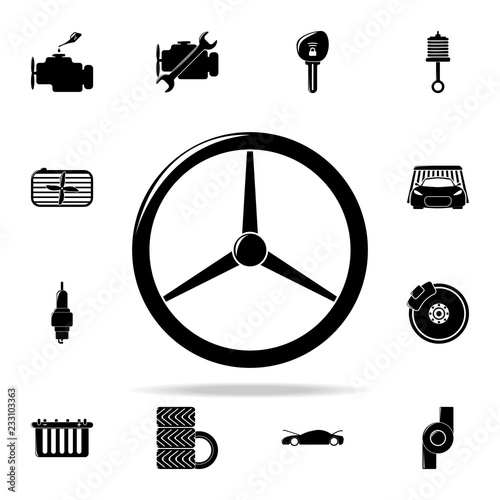 classic car steering wheel classic icon  Cars service and repair